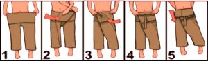 Como ponerse un pantalón thai