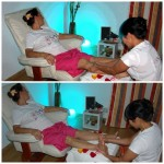Thai foot massage with aromatherapy and chromotherapy